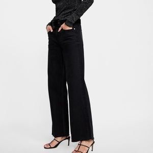 Zara City Walker Premium Wide Leg Jeans